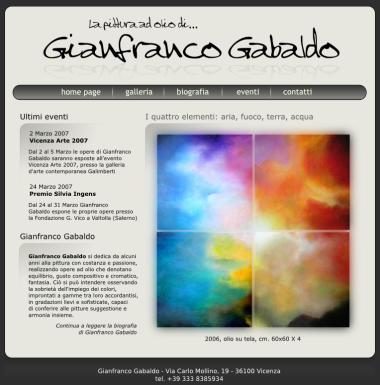Il nuovo sito di Gianfranco Gabaldo