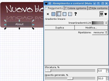 Guida inkscape, inkscape tutorial, web2, header - barra navigazione, pulsanti, bottoni, menu