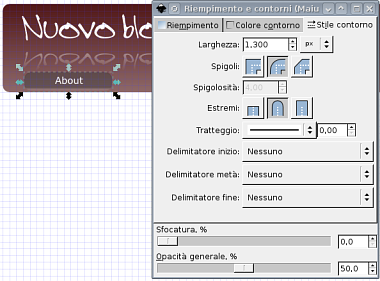 Guida inkscape, inkscape tutorial, web2, header - pulsanti, bottoni, menu, bordi