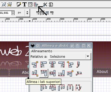 Guida inkscape, inkscape tutorial, web2, header - allineamento oggetti 2