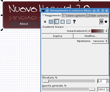 Guida inkscape, inkscape tutorial, web2, header - sfumatura oggetti ed ombre